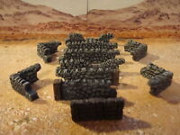 Painted Cobble  Walls, for wargame scenery and building terrains, bolt actions