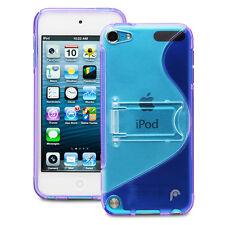 Fosmon Hybrid PC+TPU Case w/ Kickstand for Apple iPod Touch 5th Gen (Purple)
