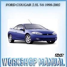 FORD COUGAR 2.5L V6 1998-2002 WORKSHOP SERVICE REPAIR MANUAL IN DISC