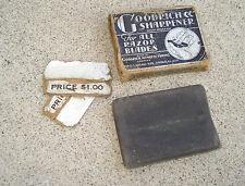 Vintage GOODRICH Razor Blade Honing Sharpener Stone Mini Pocket Size Black