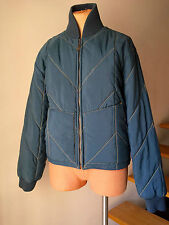 Armani Jeans AX Women's Jacket Winter Short Blue Red Puffer Long Sleeves Size XS