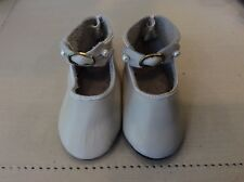 "4 1/8"" Cream Leather Shoes for Antique or Modern Dolls"