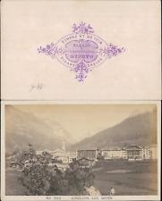 Suisse, Schweiz, Louèche-les-Bains, Leukerbad, circa 1875 CDV vintage albumen ca