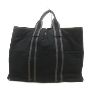 Hermes Tote Bag Fourre Tout MM Black Canvas 1428422