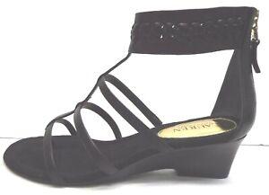 Lauren Ralph Lauren Size 9.5 Black Leather Sandals New Womens Shoes