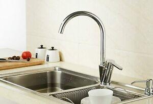 Modern Kitchen Faucet Single Handle Hot/Cold Mixer Tap 360 Degree Swivel Spout