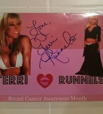 Terri Runnels Autographed WWE WWF Superstar 8x10 photo  Breast Cancer love kiss