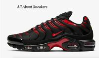 "Nike Air Max Plus OG's ""Black Red"" Men's Trainers Limited Stock All Sizes"
