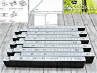 10x20x30x40x Adga Qualitäts Meterstab weiss 2m Holz Winkelübersicht 90° Rastung