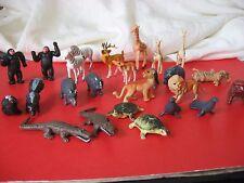 Vintage Larami Animals HONG KONG Hard Plastic 25 pieces plus unknown giraffe