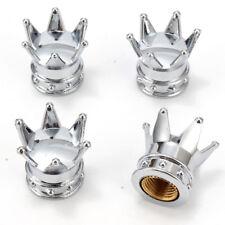 4pcs Crown  Valve Tire Stem Caps Bling Chrome Air Cap Cover Rims For Car Wheel