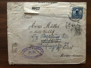 CHINA OLD COVER JUNK STAMP CHANGSHA TO GERMANY CENSOR 1916 !!