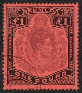 Bermuda 1938 SG121 £1 Purple and Black Fine Used (14)
