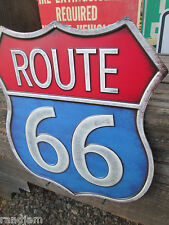 ROUTE 66 New METAL DISPLAY Red white blue shop garage retro style street hi way