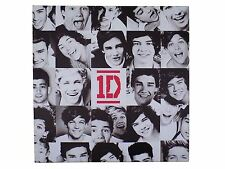 OFFICIAL LICENSED ONE DIRECTION BLACK WHITE GRID CANVAS PICTURE 40X40CM