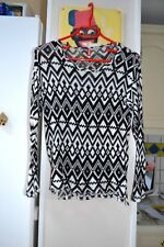 Joli haut Pull léger noir et blanc de marque DIVIDED de femme taille XS neuf