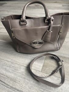 Genuine Mulberry Willow Taupe Brown Medium Sized Tote Handbag Detachable Purse