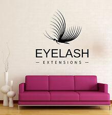Wall Vinyl Decal Makeup Extension Eyelashes Beauty Salon Decor z4798