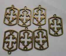 20pcs bronze plated Hollow out cross charms pendant 19x31 mm