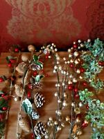 Gisela Graham Christmas Garlands Lots To Choose From Berrys Gold Red Green Cone