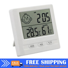 LCD Indoor Hygrometer Thermometer Room ℃//℉ Temperature Humidity Gauge Meter C3A0