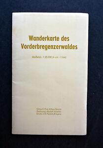 Wanderkarte des Vorderbregenzerwaldes 1:25.000 - Zeichnung: Rudolf Schertler