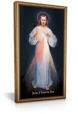 Divine Mercy Vilnius Image - Jesus I Trust In You : 10x18 - Gold Frame Art