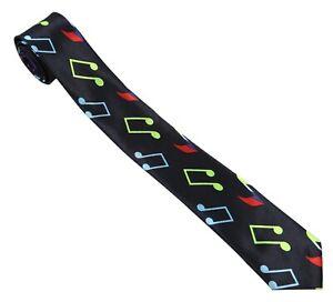 Mens Musical Notes Tie Necktie Neck Music Gift