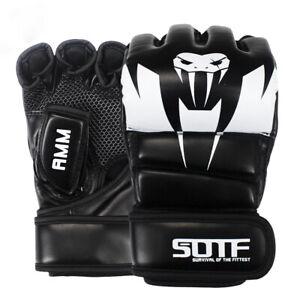 MMA Venomous snake Multicolor Boxing gloves half finger muay thai boxing fight