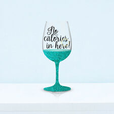 6 No Calories In Here! Wine Glass Vinyl Stickers Decals (V111)