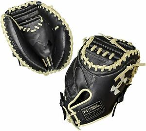 New Under Armour Framer II 31.5 Inch UACM-101Y Baseball Catchers Mitt RHT Blk/Tn