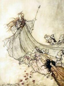Midsummer Nights Dream III By Arthur Rackham Print Poster Picture Image Art A4