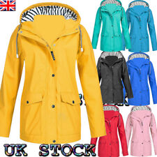Womens Raincoat Ladies Outdoor Wind Rain Forest Jacket Coat Plus Size