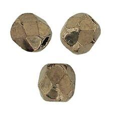 50 Perles Facettes cristal de boheme 4mm - BRONZE OR MAT