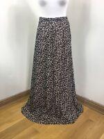Vintage 70s Daisy Maxi Skirt Brown Ditsy Long Tall Retro 10L Fancy Dress |N39|