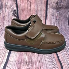Hush Puppies Gil Mens Brown Leather Easy Closure Comfort  Shoes Size 8.5 EW $104