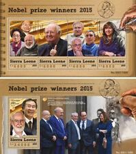 Nobel Prize 2015 Physics Science Literature Medicine Sierra Leone MNH stamp set