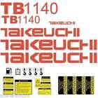 TB1140 Decals Takeuchi Mini Excavator repro Decal Set TB1140 stickers kit