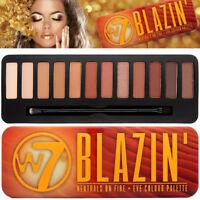 W7 BLAZIN' Neutral On Fire 12 Matt & Shimmer Powder Eye Colour EyeShadow Palette