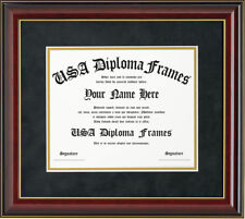Honors Cherry with Gold Trim Glossy Diploma Frame