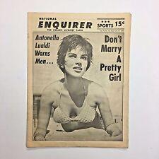 Vintage National Enquirer Tabloid March 1962 Antonella Lualdi Seppi Farouk