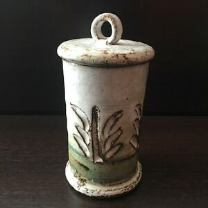 Albert Thiry Vallauris Pot Couvert Grès Vintage 1950-60 Céramique Keramic