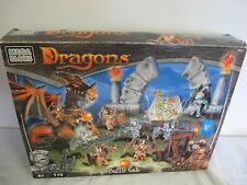 MEGA BLOKS DRAGONS BATTLE GATE IN BOX 9881 NOT COMPLETE PARTS FIGURES WEAPONS