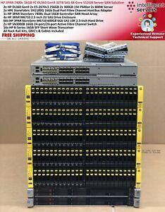 HPE 3PAR 7400c DL360 Gen9 16GB FC 32TB SAS 48-Core 512GB RAM Server SAN Solution