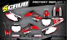 SCRUB Honda CR 125-250 2002-2007 Grafik Sticker Dekor-Set '02-'07