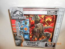 NEW Jurassic World Fallen Kingdom Stationary Set Stampers 70+ pcs Back To School