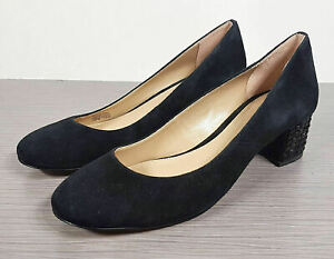 MICHAEL Michael Kors Arabella Kitten Pump Black Suede, Womens Size 7.5 M