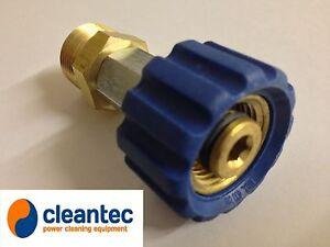 "M22 X 1/2"" Adaptor To Attach Karcher Hose To Kew Nilfisk Alto Pressure Washer"