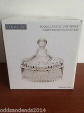 """Davco Round Crystal Line Series CANDY BOX WITH COVER  6"""" x 8"""""""