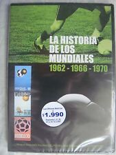 WORLD CUPS HISTORY 1962, 1966, 1970 SUBTITLED IN SPANISH, ORIGINAL DVD SEALED.!